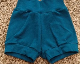Teal Cuff Shorts