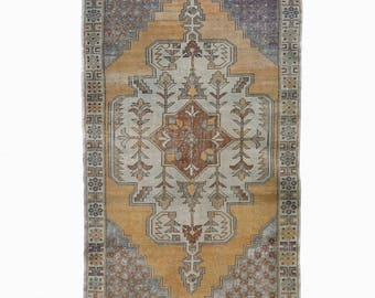Turkish Oushak Rug Turkish Distressed Area Rug FREE SHIPPING! / 4'1''x7'7''ft