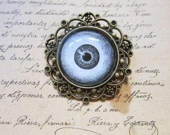 Charm Cabochon Eye Magic Protection Talisman Antique Bronze