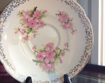 Collingwoods Pink Apple Blossom Tea Cup Saucer