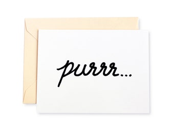 Cat Purr Letterpress Card