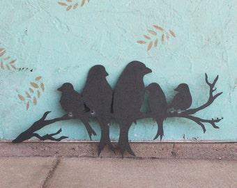 FREE SHIPPING! Birds Metal Wall Decor