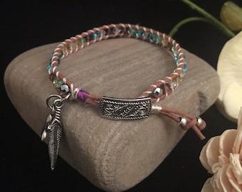 Colorful Crystal Leather Bracelet