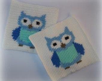 Owl Block/Graph Crochet Pattern
