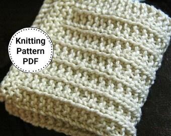 Knitting Pattern | Dishcloth Pattern | Keep it Straighter -yet