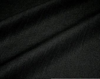 fabric pure linen black