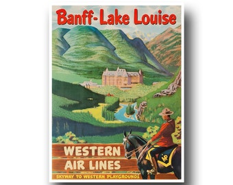 Banff Art Print Travel Poster Vintage Home Decor (XR876)
