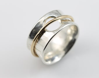Open Circle Meditation Ring, sterling silver ring, sterling silver, silver ring, spinner rings, spinner ring