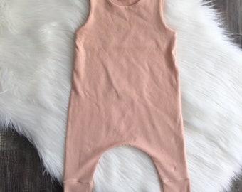 baby romper | toddler romper | one piece | onesie | blush | pink