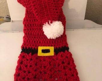 Santa Dog Sweater with Hat