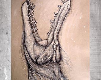 Crocodile-print fine art limited edition