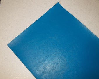 Blue Faux Leather Sheet - DIY - Vinyl sheet - Hair Bows - Headbands - Hair Clips - Embroidery, Journal Covers, Jewelry, coin purses