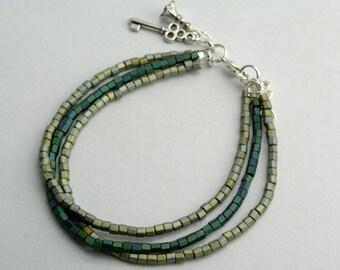 Multi Strand Bracelet with charm