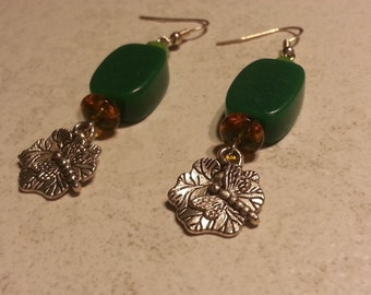 Dragonfly Lily Pad Earrings