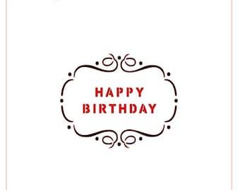 Happy Birthday Plaque Stencil