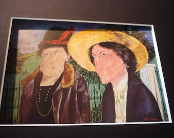 Vintage - Ben Shahn, Two Witnesses, 1932  - American realist - for art lovers - color plate exhibition cataloge 1947 framable gift decor