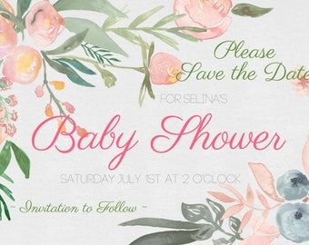 Fern Gully Save the Date Printable
