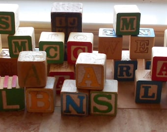 Building Blocks (New and Used) -  Letter Wood Blocks (53)