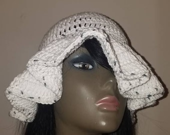 Crochet cotton sun hat,  Floppy Hat,  Beach Hat,  Bucket hat.