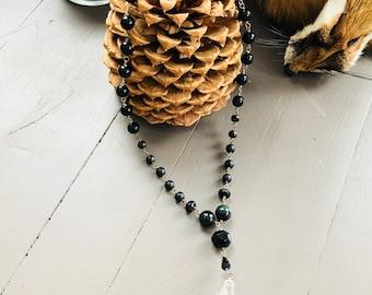 Vintage Skull Necklace- Glass