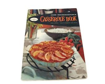 Vintage Casserole Recipe Booklet, 1950's Good Housekeeping Casserole Book, Vintage Cookbook, Pamphlets, 1950s Recipes