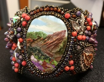 Spring in Boulder Beaded Cuff