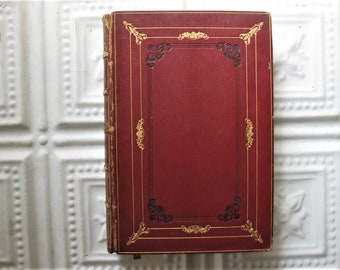1874 History of English Literature, Marbled Inside Front and Back, Lithos, Tissue