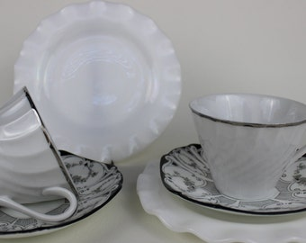 Mismatched China Tea Cup Trio Tea Party