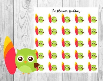 Ollie the Owl, Planner Stickers, Owl Planner Stickers, Summer Themed Planner Stickers, Surfing