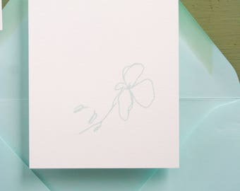 Floral Sketch Romantic Wedding Details or Insert Card