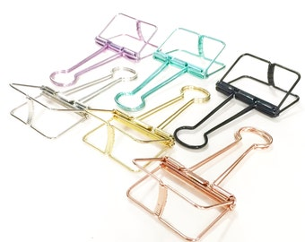 10 Binder Clips (19mm), 8 Binder Clips (32mm), 3 Binder Clips (51mm) // Gold // Rose Gold // Silver // Green // Purple // Black // Craft