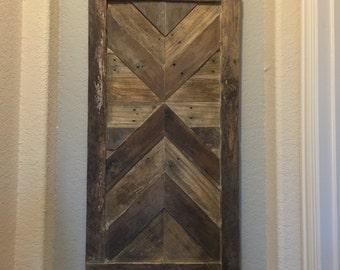 Reclaimed Pallet Wood Wall Art - Wood Wall Art - Abstract Sculpture