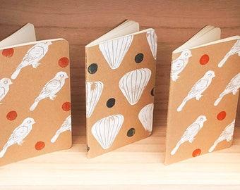 Book * Moleskine 9 x 14 cm kraft linocut cover