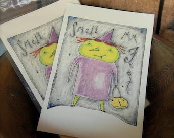 Smell my Feet - LIMITED EDITION Folk Art Notecards from Notforgotten Farm™