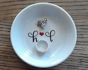 Ring Dish Personalized jewelry dish, Engagement ring dish personalized, Ring dish engagement ring holder, Engagement ring dish, trinket dish