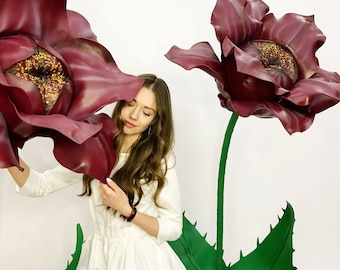 Мастер Класс По Гигантским Цветам на 5 цветов - Giant Flowers Workshop -