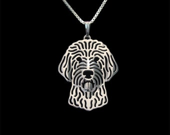 Labradoodle jewelry - sterling silver pendant and necklace
