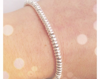 Fully silver 925 bracelet with washers