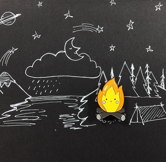 Happy Campfire Enamel Pin