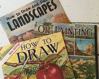 Vintage Vincent Foster How To Paint Draw paper books