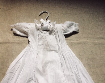 Antique  Christening Gown - Vintage Baby Clothes- 6 Mo.Old - Baby Gifts