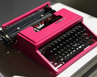 Pink/any other color - Olivetti Dora Vintage typewriter - Working Perfectly