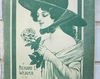 Vintage/ Antique Sheet Music – Adoration a meditation by Richard L. Weaver – 1923
