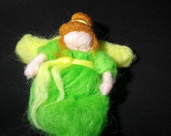 Needle felted angels with LED lights