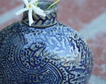 Wee Blue Bud Vase
