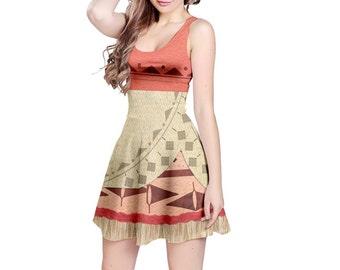 Grandma Tala Moana Inspired Sleeveless Dress