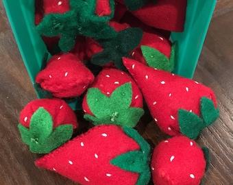 Felt Food - Strawberry - Strawberries - Berries - Play Food
