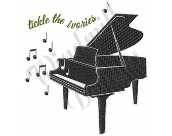 Baby Grand Piano - Machine Embroidery Design