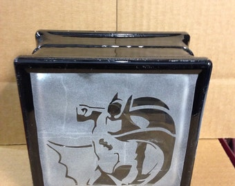 Batman glass block