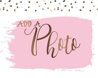 Add a Photo to Any Custom Digital Design!  DIGITAL FILE